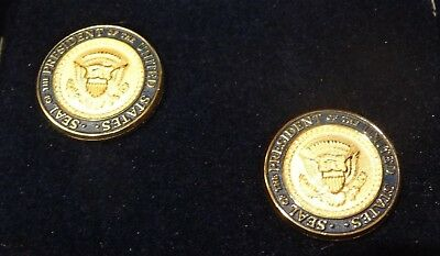 George W. Bush Cufflinks Seal Of The President Of The United States In Box