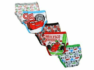 Disney Little Boys' Cars 5-Pack Brief, Colors and Prints may Vary