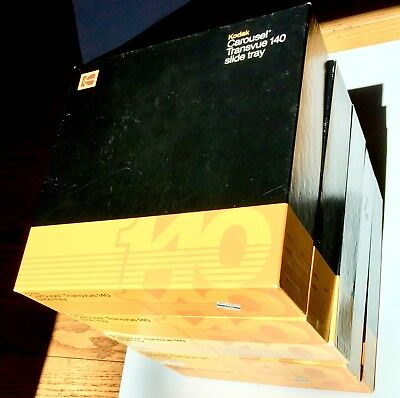 FIVE (5) KODAK Carousels Transvue 140 Slide Trays in EXCELLENT, used condition.