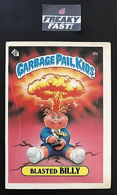 Garbage Pail Kids 1985 Blasted Billy 8b Matte Card OS1 GPK First Series #2
