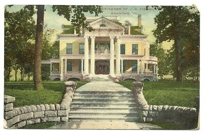 1910 Roanoke Virginia Up Close View Of The Old Fishburn Mansion