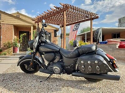 2016 Indian Chief  2016 Indian Chief Dark Horse ABS Thunder Black Smoke w/ lots of addons