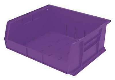 "Purple Hang and Stack Bin, 14-3/4""L x 16-1/2""W x 7""H AKRO-MILS 30250PURPL"