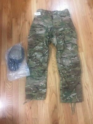 New US ARMY MULTICAM OCP COMBAT PANTS Small Short New CRYE KNEE PADS