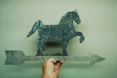 Vintage Sheet Metal Hand Cut Horse Figure Weathervane Directional