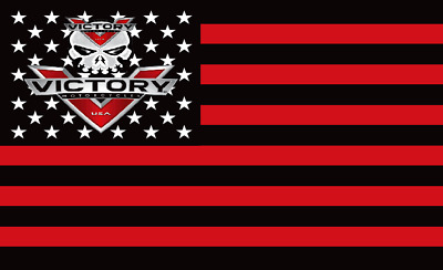 VICTORY MOTORCYCLE US 3' x 5' FLAG/BANNER-$1 SHIPPING-VEGAS 8 BALL HAMMER-OCTANE