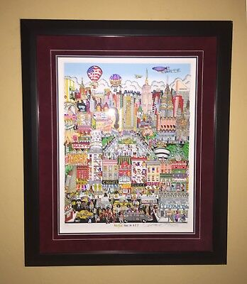 """Charles Fazzino, """"New York Has it All!"""" 3D Limited Edition 30 x 36 Inches Framed"""