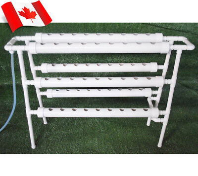 110V Ladder Double Side 6 Pipe 54 Plant Site Hydroponic Grow Kit  Canda Stock