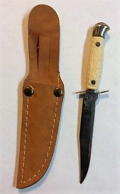 Very Nice Clean Very Small Fixed Blade Souvenir Knife With Sheath
