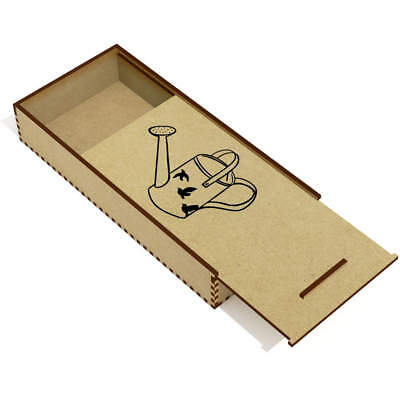 'Watering Can' Wooden Pencil Case / Slide Top Box (PC00004211)