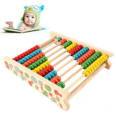 Wooden Abacus Classic Math Number Educational Counting Teaching Toys 100 Beads