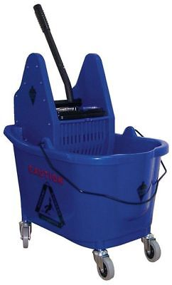 Mop Bucket and Wringer,8-3/4 gal.,Blue