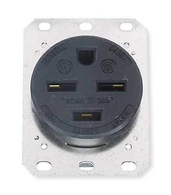 HUBBELL WIRING DEVICE-KELLEMS HBL8430A 30A 4W Single Receptacle 250VAC 15-30R BK