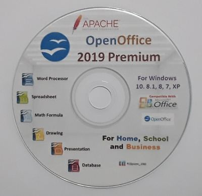 OPEN OFFICE SUITE 2019 Pro for Microsoft Windows Alternative to Microsoft  Office