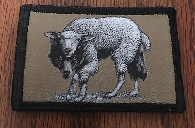 Wolf In Sheep's Clothing Morale Patch Tactical Military Army Badge Flag USA Hook