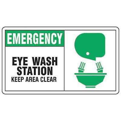 ACCUFORM MFSD926VS First Aid Sign,7 x 10In,GRN and BK//WHT