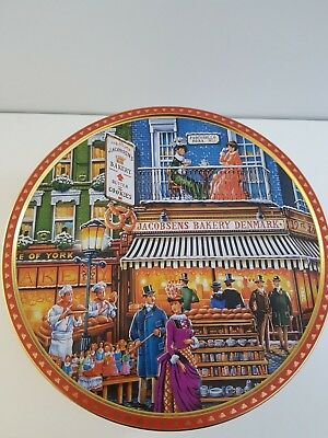 Large Jacobsens Bakery Denmark Biscuit Tin - 27cm W x 13cm D