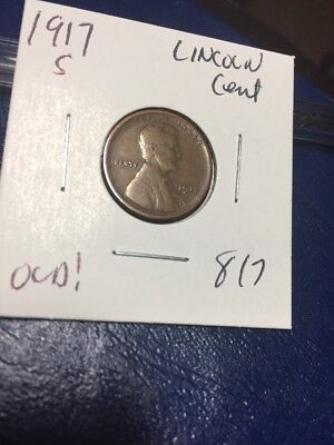 1917 S Lincoln Cent Old! 817