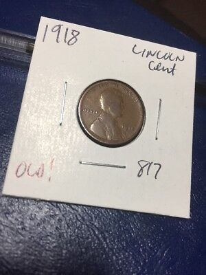 1918 Lincoln Cent Old! 817