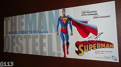 Superman~Grounded Comicpromo Poster~Signed By Eddy Barros-J. Michael Straczynski