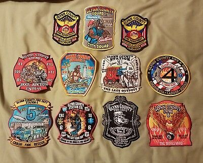 Glynn County Georgia fire department patch lot