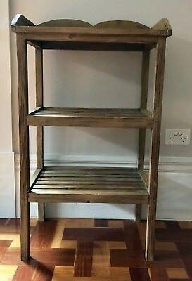 Timber Washstand. 2 Shelf. Multi purpose.