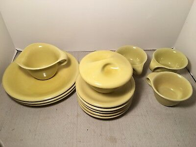 Vintage 13 Piece Set Of Sterling China Russel Wright - Straw - Mint Cond