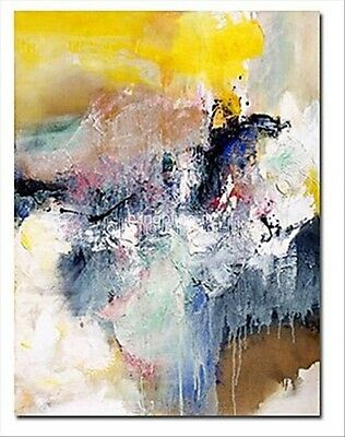 Handpainted Abstract Modern Canvas Oil Painting Wall Art Home Decor Waterfall