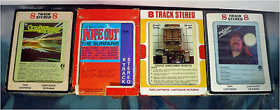 1970's 8-Track Cartridges, Circuit Breaker, Bob Seger, Wipe Out, Tested!