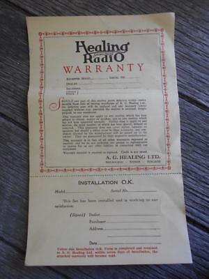 C 1930 's Healing Radio Golden Voiced Dealers warranty Melbourne unused
