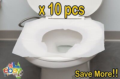 20x Toilet Seat Covers Paper Travel Biodegradable Disposable Sanitary Hygiene SY