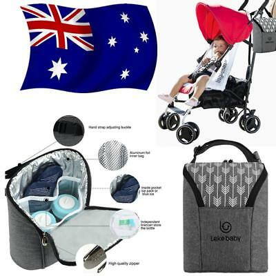 Baby Thermal Feeding Insulation Bottle Warmers Cooler Tote Bag Hang Stroller AU!