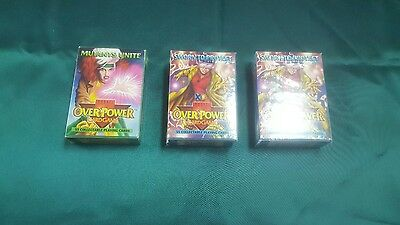 3 decks of OVER POWER~card game~collectable~factory sealed