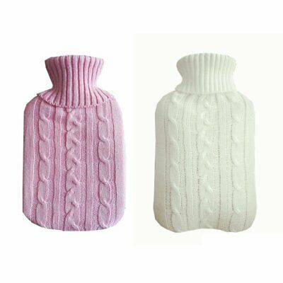 2L Useful Knitted Hot Water Bag Bottle Cover Winter Warmer Keeping Coldproof EU