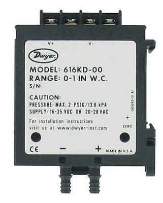 DWYER INSTRUMENTS 616KD-07 DP Transmitter,4-20mA Out