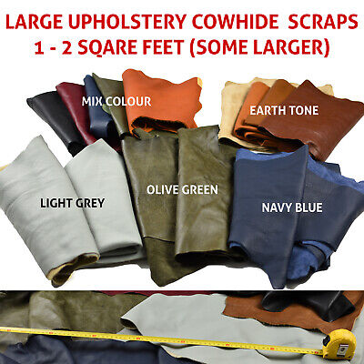 Cowhide scraps - Upholstery leather pieces 2-3 hands | UV RESISTANT LEATHER
