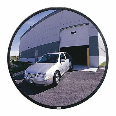 Indoor/Outdoor Convex Mirror,12 in dia ZORO SELECT SCVO-12Z-PB-VT