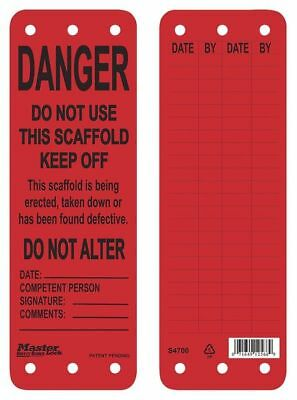Danger Tag,Polypropylene,Red,9inH x 3inW MASTER LOCK S4700