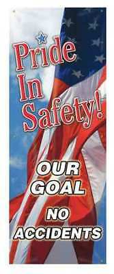 Banner,Pride In Safety,74 x 28 In. ACCUFORM MBR603