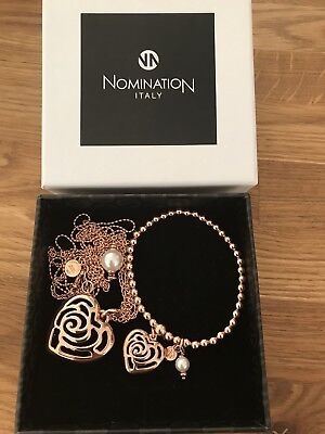 Original Nomination Set Kette Armband Rosegold