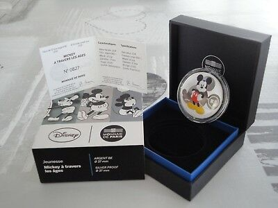 10 euros BE France 2016 - SERIE JEUNESSE MICKEY A TRAVERS LES AGES TRES RARE !!