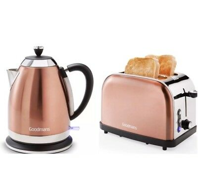 Goodmans Diamond Copper Style 1.7L Kettle and 2 slice Toaster Set