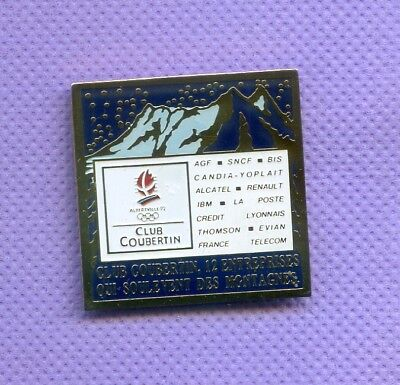 Rare Pins Jeux Olympiques Albertville 1992 Coubertin R480
