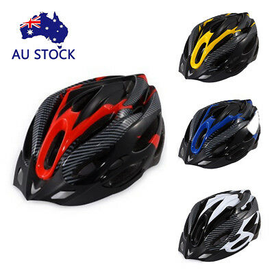 AU RockBros MTB Road Bike Cycling Helmet 55cm-62cm EPS Integrally Carbon Helmet