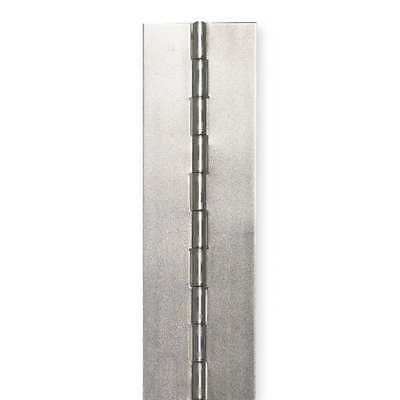 """GRAINGER APPROVED Steel Continuous Hinge,Natural,48/"""" H x 5//8/"""" W 2ZDW7"""