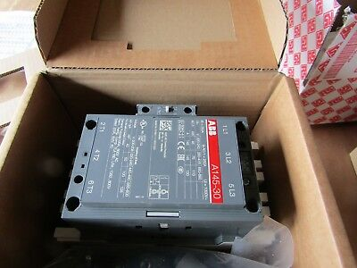 ABB A145 3 Pole Contactor, 3NO (Main), NO/NC (Auxiliary) 120A 110kW ABB 8329239