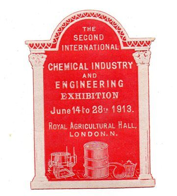 UK Second Inter. Chemical & Engineering Exhibition June 1913- f