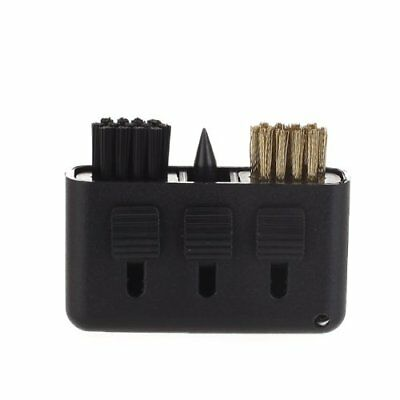 3-in-1 Golf Brush Groove Cleaner Pocket Size Plastic Club Kit Tool Black N2G SHJ