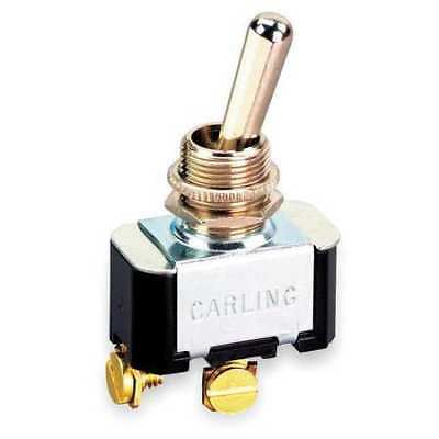 Toggle Switch,SPST,10A @ 250V,Screw CARLING TECHNOLOGIES 6FA54-73