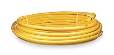 """MUELLER INDUSTRIES DY06050 3/8"""" OD x 50 ft. YL Plastic Coil Copper Tubing Type"""